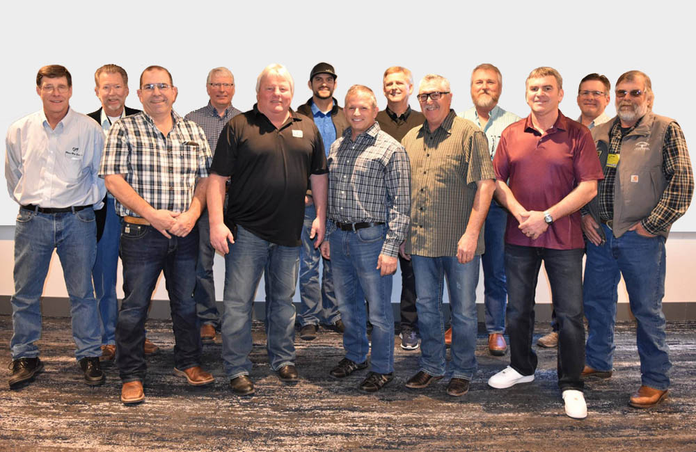 From left to right: Randy Kortus (Lynden, WA), Pete DeGroot (Fresno, CA), Chad Martin (Tillamook, OR), Mark VanMersbergen (Lynden, WA), Jace Leal (Tulare, CA), Vice President Dennis Areias (Los Banos, CA), President Jerry Lanting (Mt. Vernon, WA), Frank Borba (Escalon, CA), Frank Ausman (Nyssa, OR), Dennis Stauffer (Washougal, WA), Tony Neles (Sonoma, CA), Jim Boogerd (Prosser, WA).